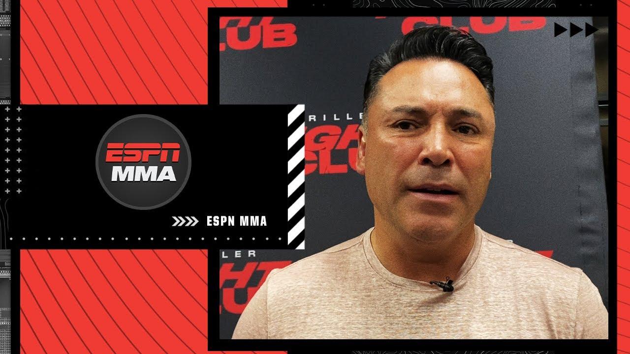 <label itemprop='name'><a href='https://www.mvpboxing.com/videos/all-access/Oscar-De-La-Hoya-on-comeback-match'  class='headline_anchor news_link' itemprop='url'>Oscar De La Hoya on comeback match and if he'll fight Floyd Mayweather & Canelo Alvarez | ESPN MMA</label>
