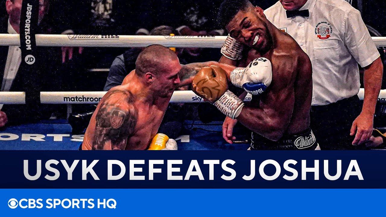 <label><a href='https://www.mvpboxing.com/videos/all-access/Oleksandr-Usyk-stuns-Anthony-Joshua-to-win-WBA-IBF-and-WBO-Titles-FULL-RECAP'  class='headline_anchor news_link'>Oleksandr Usyk stuns Anthony Joshua to win WBA, IBF and WBO Titles   FULL RECAP   CBS Sports HQ</label>